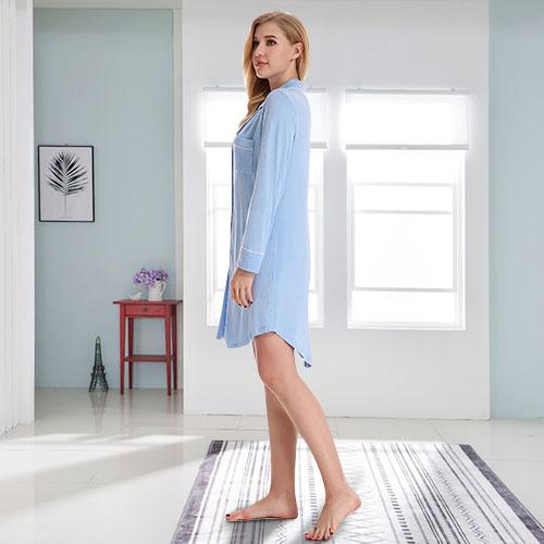 N NORA TWIPS Women/'s V-Neck Knit Sleepwear Long Sleeves Top with Pants Pajama Se